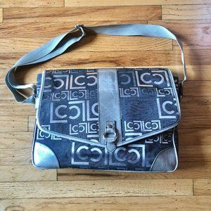 Liz Claiborne - Messenger Laptop Bag Black/Grey